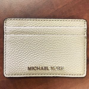 NEW Michael Kors Money Card Holder Leather P07
